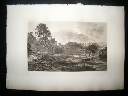 T & R Annan after Horatio Macculloch 1885 Photogravure. Loch Katrine, Scotland | Albion Prints
